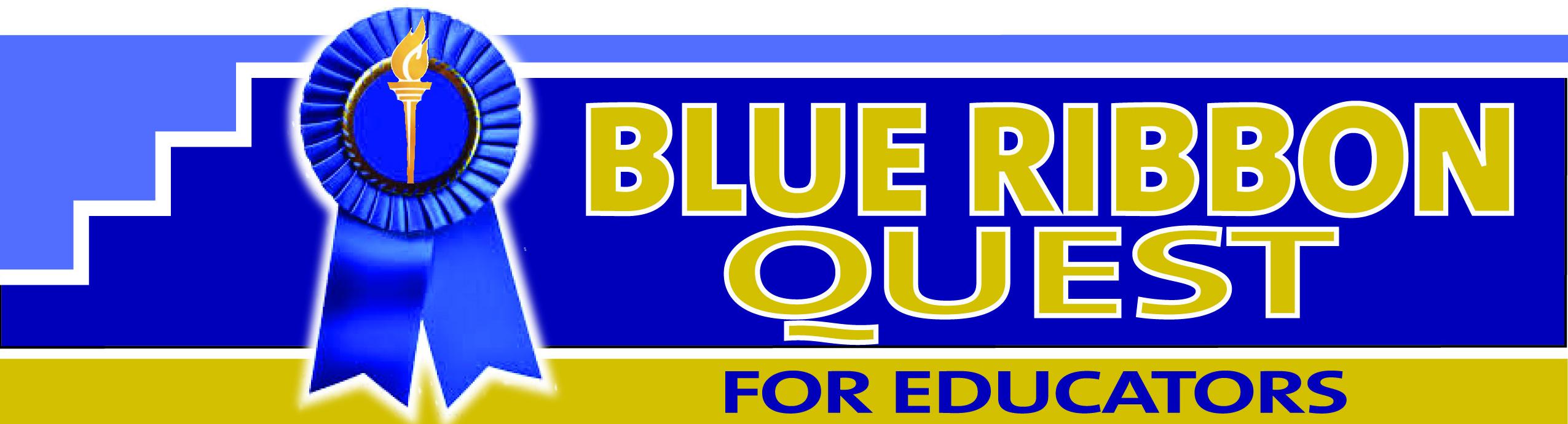 Blue Ribbon 001 Logo Outlined Blued